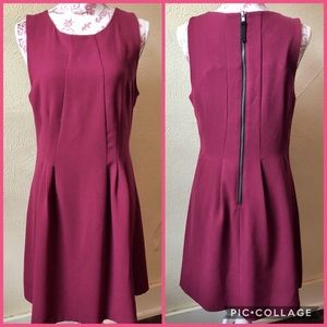 Forever 21 Contemporary Dress L Cranberry Polyestr